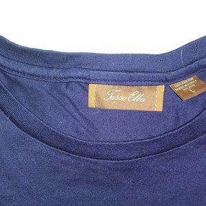 Tasso Elba Shirts - SUPERB QUALITY TASSO ELBA NAVY BLUE T-SHIRT